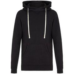 VELVET Palmer Jaspe Hoody ($295) ❤ liked on Polyvore featuring tops, hoodies, black, drawstring hoodie, sweatshirt hoodies, cross over top, hooded pullover and surplice top