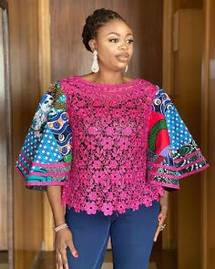 African Maxi Dresses, Latest African Fashion Dresses, African Dresses For Women, African Print Fashion, African Attire, Lace Dresses, African Blouses, African Tops, African Lace Styles
