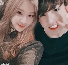 A social media story of Rosé and Jungkook. Rosé and Jungkook become closer interacting on social media and fans are having a field day seeing their interaction. Will they accept them or not? Kpop Couples, Cute Couples, Golden Family, Dragon Day, Bts Girl, Best Kpop, Blackpink And Bts, K Pop, Park Chaeyoung