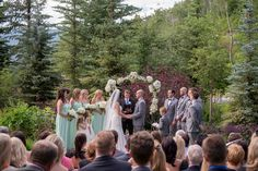 Stunning outdoor ceremony location at Park Hyatt Beaver Creek Resort & Spa in Colorado #coloradowedding