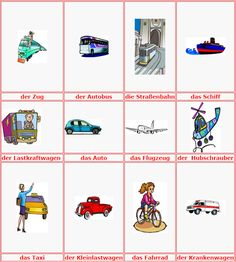 German Vocabulary - Means of transportation | L E A R N G E R M A N