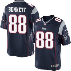 c5984cc6d Nike New England Patriots Men s  88 Martellus Bennett Limited Navy Blue  Home NFL Jersey Jersey