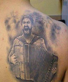 Accordion Player Tattoo #Tattoo, #Tattooed, #Tattoos
