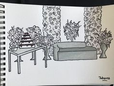 Réalisation d'un croquis coin des mariés fleuri et wedding cake #croquis #weddingdecor #weddingdesign Coin, Wedding Planner, Marie, Cherry, Home Decor, Sketch, Wedding Bride, Creative Ideas, Floral