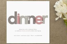 Dinner Party Rehearsal Dinner Invitations by Jody Wody at minted.com