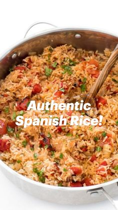 Mexican Rice Recipes, Easy Rice Recipes, Mexican Dishes, Side Dish Recipes, Beef Recipes, Vegetarian Recipes, Cooking Recipes, Healthy Recipes, Vegetarian Spanish Rice Recipe