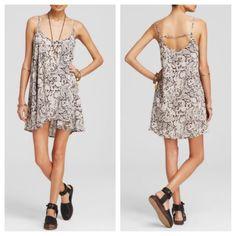 Free People || Printed Emily Slip Dress