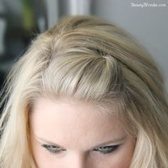 6b3a309dd31 The perfect side bang pin back tutorial (video and photos) Pinned Bangs