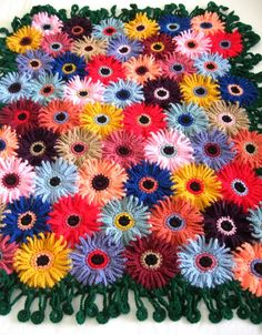Aster blanket Afghan Handmade Hand crocheted afghan by MingazovArt