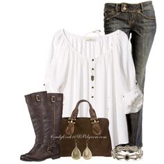 Brown, created by cindycook10 on Polyvore