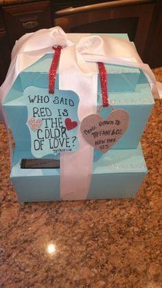 Valentine Box, Tiffany Blue, Red, Color, Tiffany Blue Color, Colour, Colors