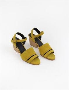 Creatures of Comfort Monica Platform - Yellow Suede