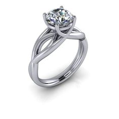 Moissanite Forever Brilliant Unique Engagement Ring 2 CT
