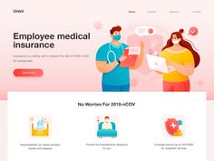 Medical Service Website 02 by Unini for Felic Arts on Dribbble Event Banner, Online Travel, User Interface Design, Saint Charles, Web Design Inspiration, Show And Tell, Health Care, No Worries, Social Media