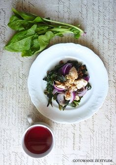 Chicken salad with spinach and dried figs | Gotowanie ze stylem