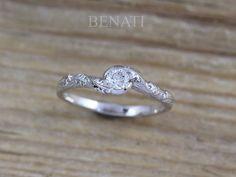 Nature Diamond Engagement Ring inspired Leaves Ring  BENATI Elegant Engagement Rings, Perfect Engagement Ring, Diamond Engagement Rings, Bridal Rings, Wedding Rings, Boho Wedding, Big Rings, Wedding Band Sets, Anniversary Rings