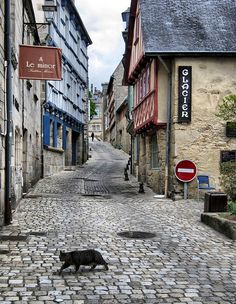 Quimper, Brittany, France I spent a nice day here with my husbnad and son...Lunch and the beach.