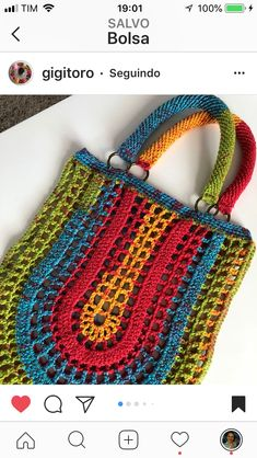 "New Cheap Bags. The location where building and construction meets style, beaded crochet is the act of using beads to decorate crocheted products. ""Crochet"" is derived fro Crotchet Bags, Crochet Tote, Crochet Handbags, Crochet Purses, Love Crochet, Knitted Bags, Filet Crochet, Crochet Crafts, Crochet Stitches"
