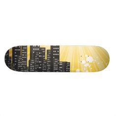 skateboard designs cityscapes | ...tablas de eskate... | Pinterest ...