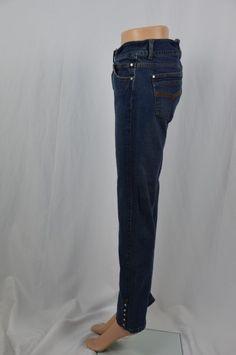Lee Womens 9/10M Dark Wash Straight Leg Embellished Ankle Jeans One True Fit #Lee #StraightLeg