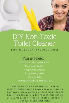 DIY Non Toxic Chemical Free Toilet Bowl Cleaner Recipe | Melaleuca Tea Tree Oil | Natural Cleaning | Healthy Living