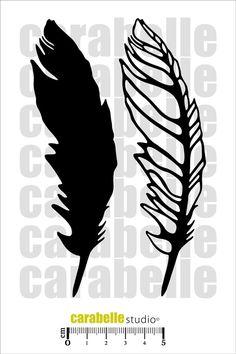 Masque : 2 plumes - Art Stamp