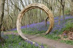 Title: Spiral Coppice Arch Materials: Sweet Chestnut and Steel Approx. Garden Arbor, Garden Gates, Garden Archway, Moon Gate, Natural Garden, Garden Structures, Outdoor Art, Land Art, Dream Garden