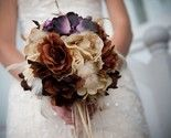 VINTAGE VIXEN Wedding Bouquet  Accented With Feathers by Ardesign, $120.00