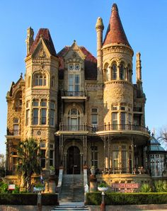 The Bishop's Palace, also known as Gresham's Castle, is an ornate Victorian-style house, located on Broadway and 14th Street in the East End Historic District of Galveston, Texas ~