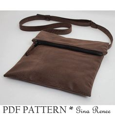 LOVE this purse!  Foldover Purse Sewing pattern. Fold over bag sewing pattern by GinaReneeDesigns, $9.00