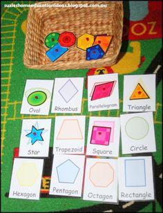 Montesorri inspired printable shape cards