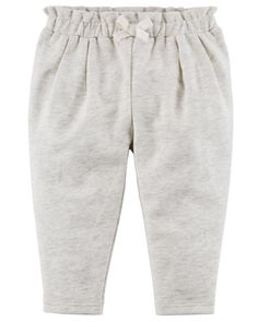 Baby Girl French Terry Ruffle Pants | Carters.com