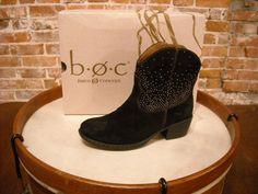 Born Black Suede Studded Ambrosia Ankle Boots NEW #Born #CowboyWestern