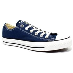 Converse Chuck Taylor All Star Low Navy - 4 D(m) Us Men/ 6 B(m) Us... ($55) ❤ liked on Polyvore featuring shoes, sneakers, converse, men, blue, blue sneakers, converse footwear, navy blue shoes, navy sneakers and navy blue sneakers