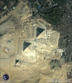 Pyramids of Giza. It's amazing how the city has grown closer and closer to the pyramids.