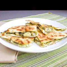 Chicken and artichoke pesto quesadillas | Snixy Kitchen