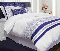 Wedgwood est l'incarnation de l'élégance au quotidien, simple et majestueux. Brodé de bleu indigo avec imprimé vous bénéficierez des avantages du luxe sans effort!