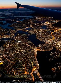 Beautiful city of Stockholm, Sweden by night. Beautiful city of Stockholm, Sweden by night. City Aesthetic, Travel Aesthetic, Aesthetic Black, Airplane Photography, Travel Photography, Beautiful World, Beautiful Places, Adventure Is Out There, Airplane View