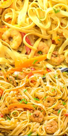 This delicious Cajun Chicken and Shrimp Pasta makes an easy, quick and filling dinner for the whole family. The smoky Cajun spice and the creamy Parmesan sauce create an unforgettable combination! lo mein recipe chinese food Chicken and Shrimp Pasta Cajun Shrimp Recipes, Seafood Recipes, Cooking Recipes, Healthy Recipes, Dinner Recipes Easy Quick, Easy Meals, Chicken Recipes Video, Chicken And Shrimp Pasta, Shrimp Fettuccine
