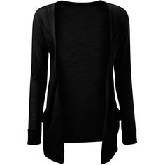VIP Boutique Womens Black Boyfriend Pocket Cardigan (3,38 BGN) ❤ liked on Polyvore featuring tops, cardigans, pocket tops, pocket cardigan, boyfriend top, cardigan top and boyfriend cardigan