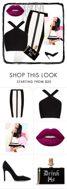 """""""weekend"""" by rachelcoutos on Polyvore featuring River Island, BCBGMAXAZRIA, Lipsy, Lime Crime and Gianvito Rossi"""