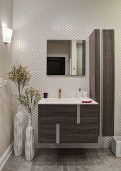 Get inspired by Modern Bathroom Design photo by EDYTA & CO. Wayfair lets you find the designer products in the photo and get ideas from thousands of other Modern Bathroom Design photos. Bathroom Renos, Bathroom Interior, Small Bathroom, Bathroom Ideas, Bathroom Images, Bathroom Vanities, Interior Design Chicago, Luxury Interior Design, Contemporary Bathroom Designs