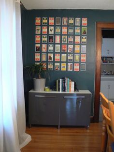 mylittlehousedesign.com DIY postcard wall art & A selection of Penguin book cover postcards framed and displayed in ...