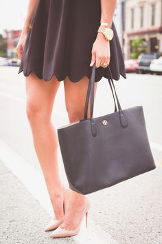 Tory Burch Black Perry Tote // A Southern Drawl