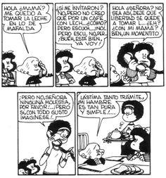 Libertad Mafalda Quotes, H Comic, Lucky Luke, Humor Grafico, Amazing Adventures, Funny Comics, Comic Strips, Quotations, Lol