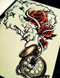 Time heals everything.maybe a tatoo idea Great Tattoos, Trendy Tattoos, Beautiful Tattoos, Body Art Tattoos, Tattoo Drawings, Sleeve Tattoos, Tattoos For Women, Tatoos, Tattoo Art