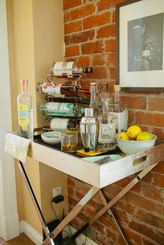 17 Unique Ways to Store Booze That Don't Include a Bar Cart via Brit + Co.
