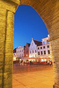 Town Hall Square, Tallinn, Estonia,