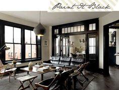 Birch + Bird Vintage Home Interiors » Blog Archive » Dark Interior Trim