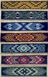taniko patterns ~ traditional maori, new zealand Maori Patterns, Peyote Patterns, Weaving Patterns, Cross Stitch Patterns, Flax Weaving, Inkle Weaving, Basket Weaving, Hand Weaving, Navajo
